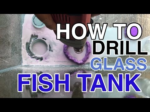 HOW TO DRILL A GLASS FISH TANK ( 120G REEF TANK BUILD PART 7 )