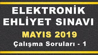 MAYIS 2019 ELEKTRONİK Ehliyet Sınav SORULARI ve CEVAPLARI - 1