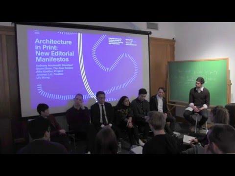 Architecture In Print: New Editorial Manifestos