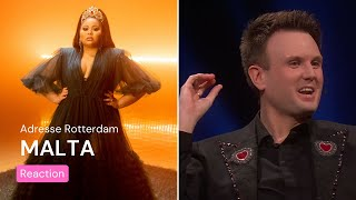 Norwegian TV about Malta's Eurovision song | Destiny - Je Me Casse | Eurovision Song Contest 2021
