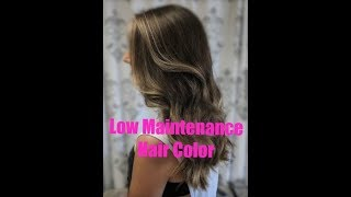 Low Maintenance Hair Color Blonde Highlights Tutorial