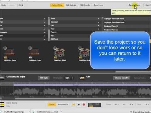 Creating Simple Background Tracks for Original Songs using UJam