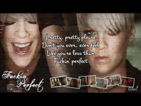 FUCKIN' PERFECT (karaoke/instrumental) - Pink (lyrics on screen)