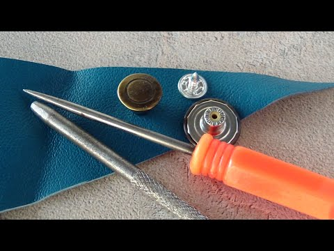 How To Attach A Jeans Button. How To Install A Metal Jean Button On Leather Clothes