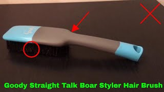 ✅ How To Use Goody Straight Talk Boar Styler Hair Brush Review