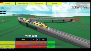 ROBLOX NS Test place; Driving the VIRM Part 1.