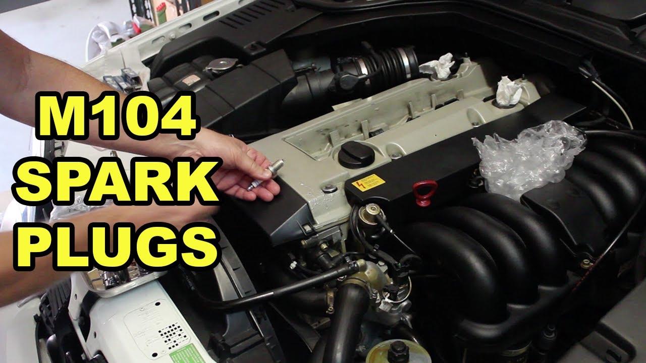 Mercedes Benz M104 Spark Plug Change (W140) - YouTube
