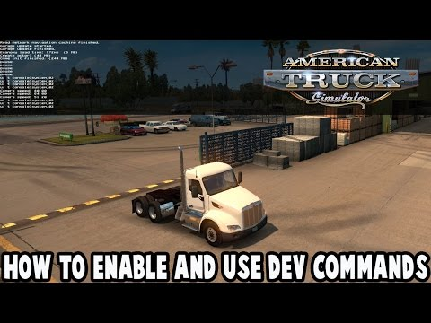 American Truck Simulator - How To Enable And Use The Developer Console - Dev Commands Tutorial