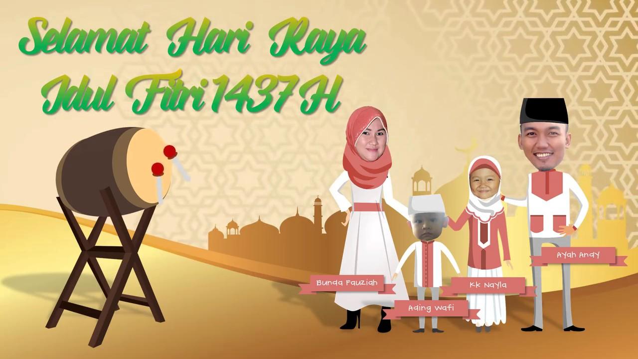 Animasi Lebaran Png Gambar Islami