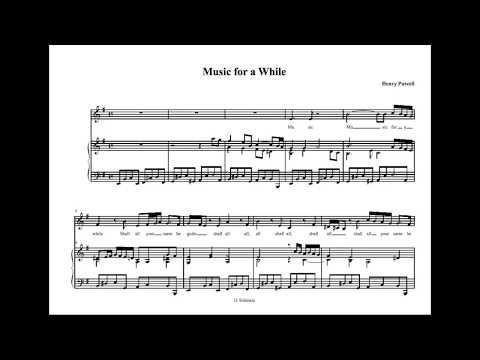 Purcell Music For A While Best Version With Sheet Music Youtube