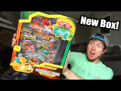 NEW CHARIZARD POKEMON CARD In The Tag Team Generations Premium Collection Box Opening!