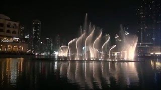 Dubai Fountain (Music,Aa Bali Habibi, Elissa) Part 21