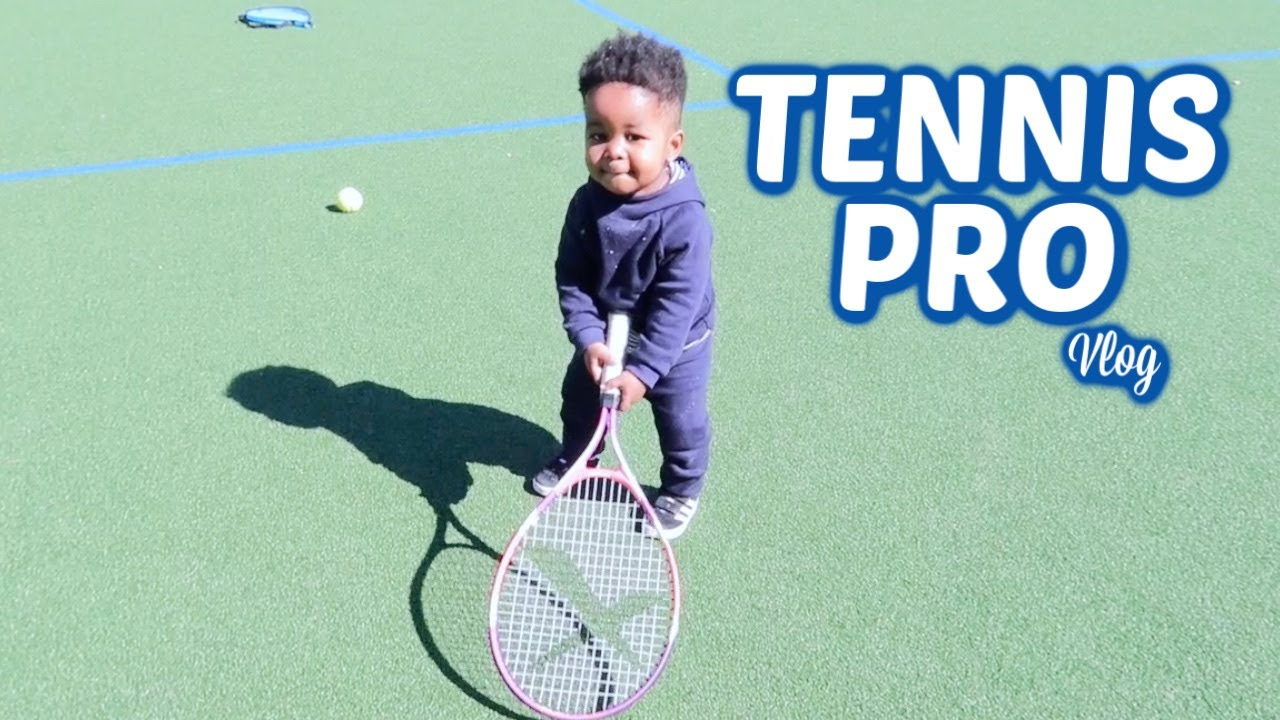 HIS FIRST TENNIS GAME - HE NAILED IT || Mommy and Baby Approved