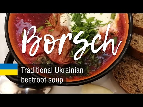 Classic Borsch (Borscht). Russian and Ukrainian beetroot soup recipe.
