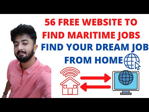 56 FREE WEBSITE TO FIND MARITIME JOBS | FIND JOB FROM HOME