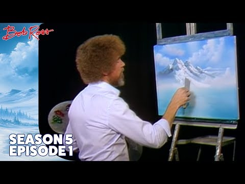 Bob Ross - Mountain Waterfall (Season 5 Episode 1)