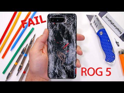 The ROG Phone 5 has a Problem - Durability Test Fail! - JerryRigEverything