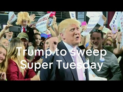 Donald Trump set to sweep Super Tuesday