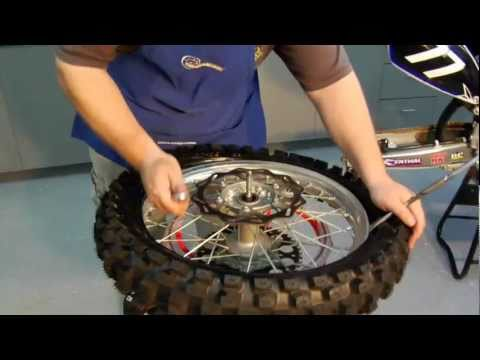 Dirt Bike Rear Tire and Tube Changing