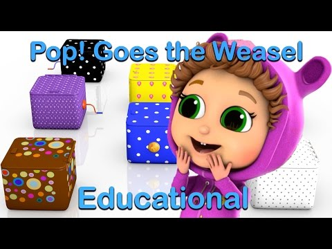 Pop Goes The Weasel (Learn Colors) | Baby Songs with Baby Joy Joy | Educational