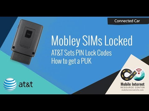 AT&T Connected Car Mobley SIMs Reporting as PIN Locked - How