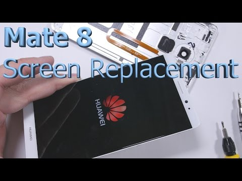 Ascend Mate 8 Screen Replacement - Charging Port Fix - Battery Swap - Teardown