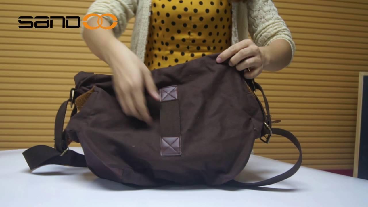 Wholesale Mens Vintage School Military Shoulder Bag, Leather Canvas  Messenger Bag 0427e22c56