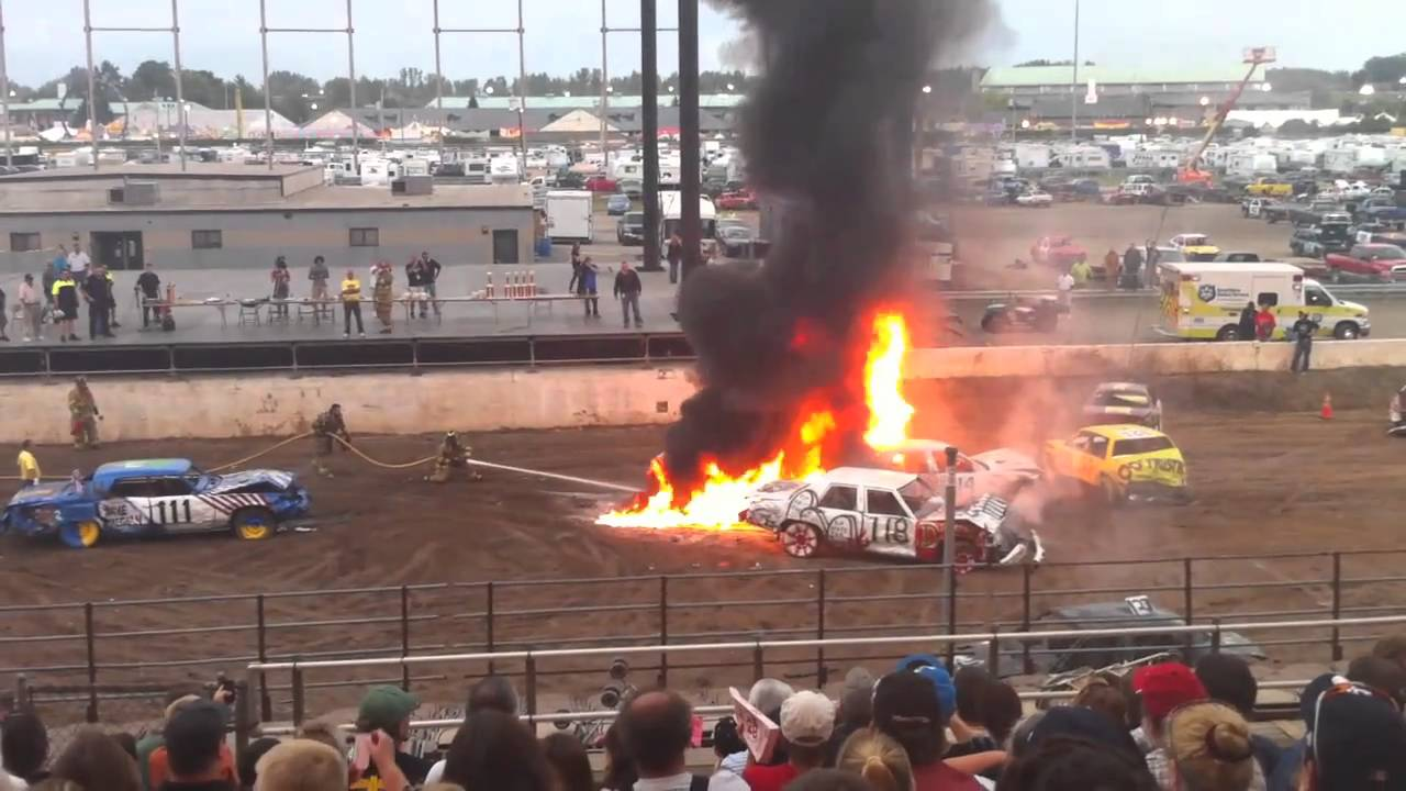 Demolition derby fire