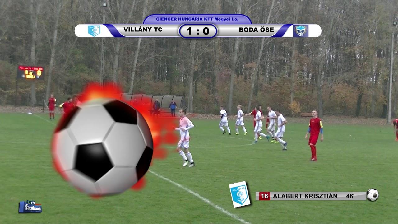 VILLÁNY TC - BODA ÖSE     1 - 1 (0 - 0)