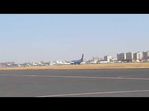 Turkish Airlines B737-800 emergency landing on Khartoum international airport....