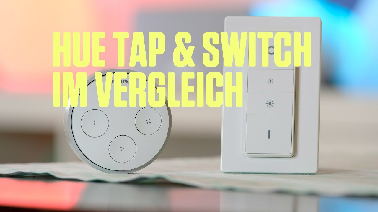 hue tap hue dimmer switch philips lichtschalter im vergleich youtube. Black Bedroom Furniture Sets. Home Design Ideas