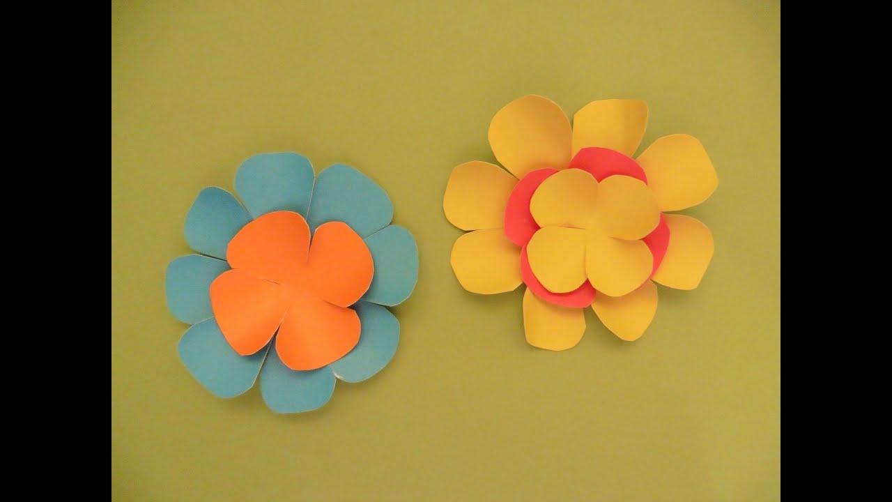 Flores hechas con cartulina youtube - Posters gigantes para pared ...