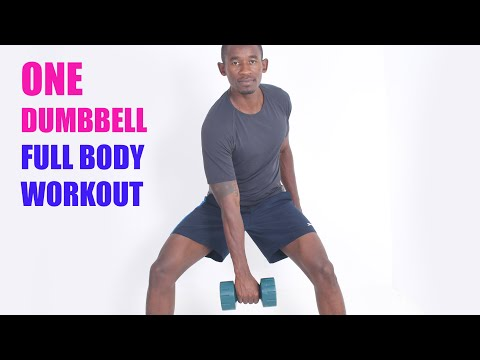 Intense 12-Minute Total Body One Dumbbell Workout at Home