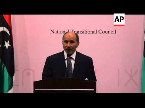Presser by Libya''s National Transitional Council