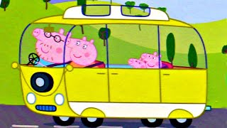 Свинка Пеппа и Семья в Желтом Автобусе собираем пазлы для детей с героями мультика свинка пеппа