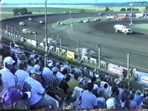Rob  Lamb Belleville High Banks NCRA Modifieds Heat 4 7-1-01.wmv