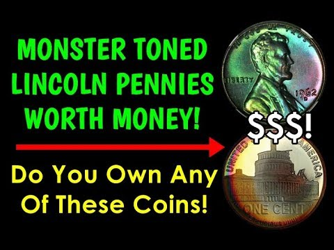 Colorful Lincoln Pennies Worth HUGE Amounts Of Money! - Do You Have This Coin??