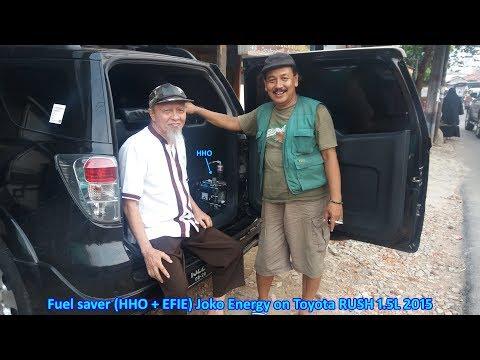 Fuel saver HHO + EFIE Joko Energy on Toyota RUSH 1.5L 2015 black