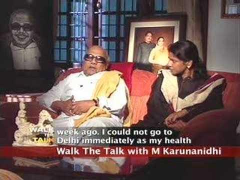 Walk the Talk: M Karunanidhi