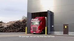 Automated truck sampler (biomass). Fortum, Joensuu Finland