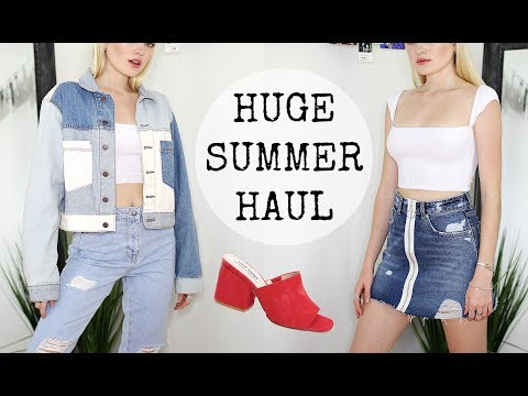 HUGE SUMMER TRY ON CLOTHING HAUL  / Urban Outfitters, ZARA, Reformation