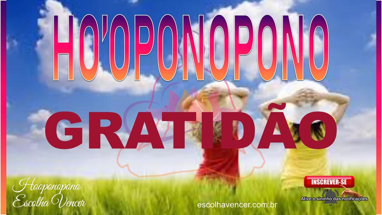 HO'OPONOPONO GRATIDÃO