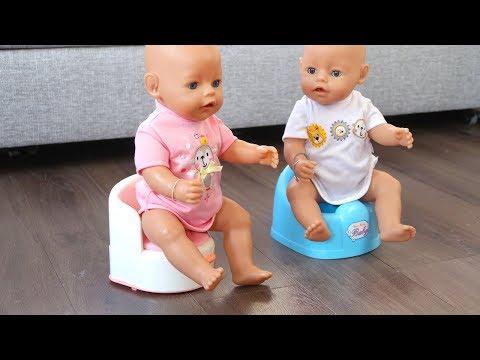Как Мама Приучала Двойняшек Беби Бон Ходить на Горшок Куклы Пупсики Для девочек 108мама тиви