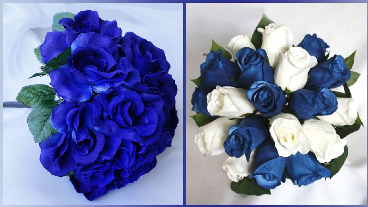 Beautiful And Stylish Navy Blue Flower Bouquet Ideas For Bridal Youtube