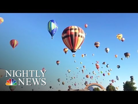 Balloons Paint The Albuquerque Sky At Annual Fiesta | NBC Nightly News