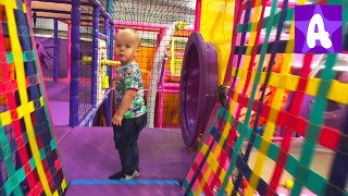 Alex Playing and having Fun at Indoor Playground Area