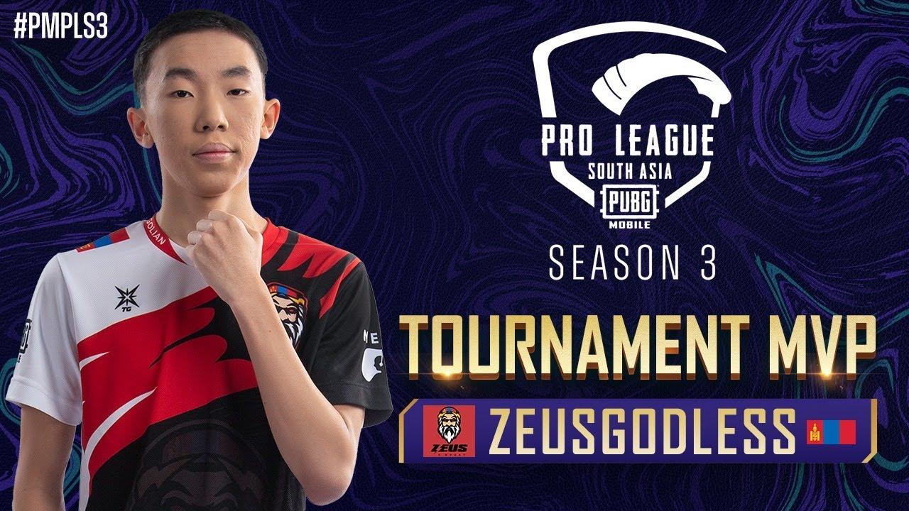 PMPL South Asia S3 | Tournament MVP - ZEUSGODLESS