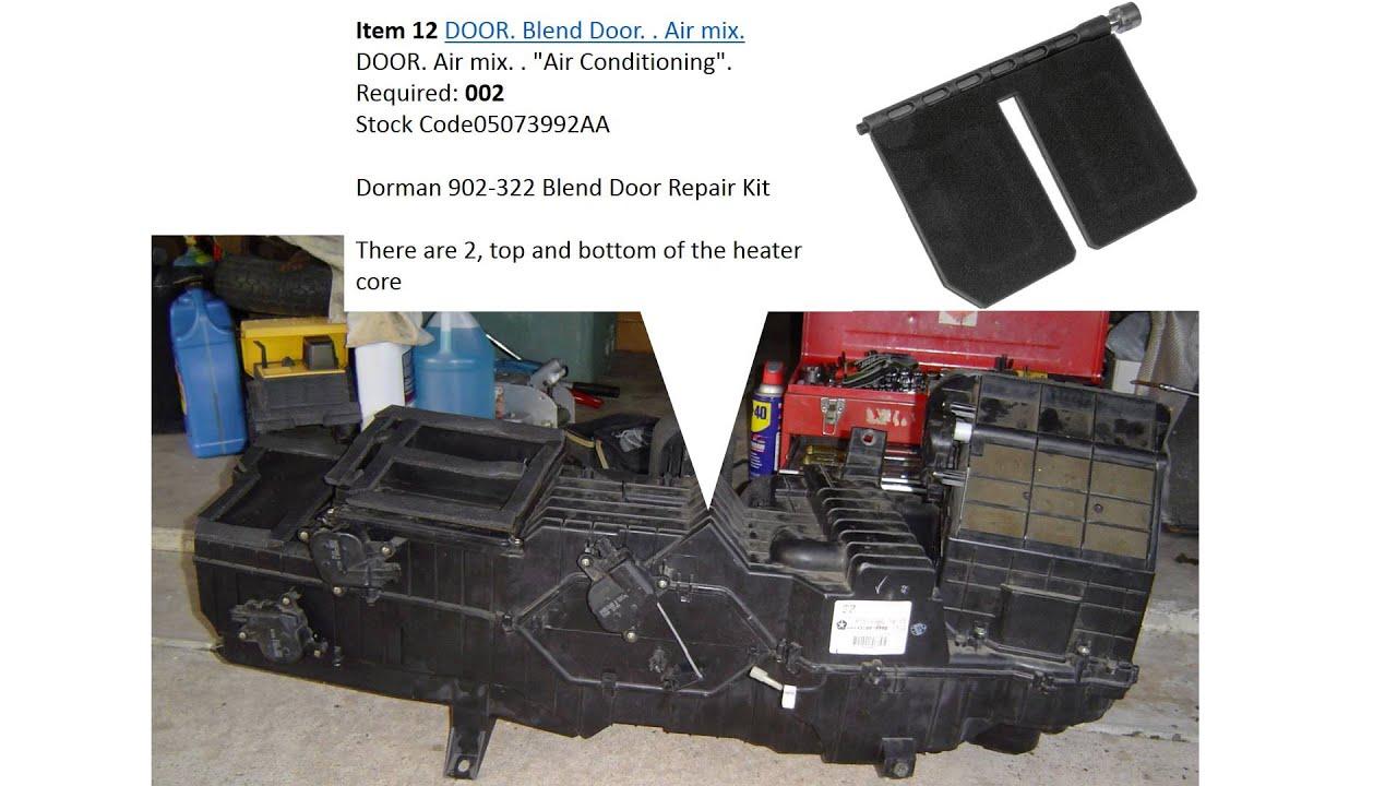 Blend Door Dodge Ram 2003 1500
