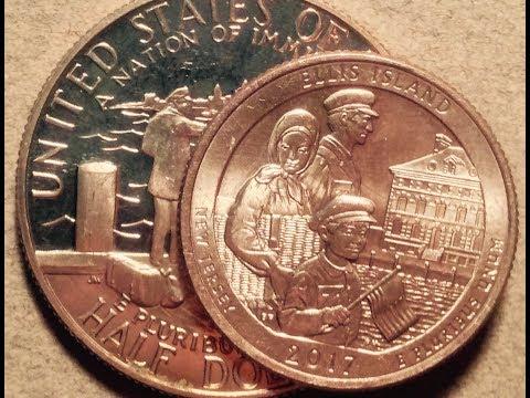 1986 Half Dollar: Statue Of Liberty + Ellis Island Quarter