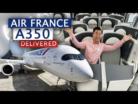 Air France First Airbus A350 Delivered! (My Shortest Delivery Flight)